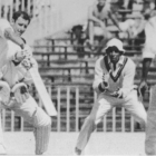 Bruce Taylor on his way to 124 in the first test against the West Indies. Photo: Herald Archive