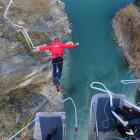 A customer leaps from AJ Hackett Bungy's Kawarau site. PHOTO: ODT FILES