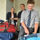 Charlie Ottrey unpacks his gear and settles into life at the Otago Boys' High School boarding...