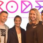 Celebrating the announcement of Code grants in Dunedin yesterday are (from left) Gfactor...