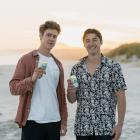 Olivier Despatis (left) and Brendan Yielder have launched New Zealand's first alcoholic iced tea...