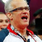 """John Geddert was coach of the women's team known as the """"Fierce Five"""" that won gold at the 2012..."""