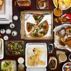 Junk food dinner feast. Getty Images