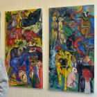 Marie Strauss' latest exhibition combines her love of animals with the dangers of Covid. PHOTO:...