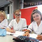New Waitaki Girls' High School year 9 pupils (from left) Neve Mavor, ...