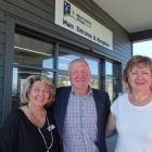 Outside Observatory Village are (from left) new manager Moira Kliegl, Observatory Village...