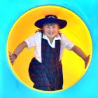 St Joseph's Cathedral School pupil Sophie Waterworth (10) plays on the slide within the school's...