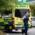 Emergency services respond to a crash in Fendalton on Thursday. Photo: George Heard