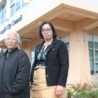 Bontetaake Kaiteie and Makalita Maka went to an Invercargill council meeting yesterday to oppose...