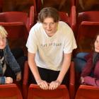 Former Otago Girls' High School pupils (from left) May Cavanagh (18), Sylvia Otley (17) and...
