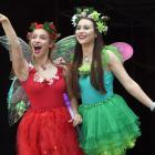 Several suitably dressed fairies, including Zara Anthony-Whigham (19, left) and Summer Johnson ...