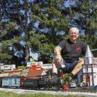 Bill Stanley has transformed his backyard into a garden railway enthusiast's paradise. Photo:...