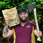 Dunedin woodchopper Bradley Pako has just won the David Bolstad Memorial 375mm Underhand World...
