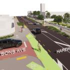 The proposed design plans for the Wheels to Wings - Papanui ki Waiwhetū cycleway. Image: Newsline