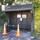 One of the closed bus stops, at the intersection of Reeves St and District Rd. PHOTO: ANDREW...
