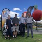 Celebrating the arrival of the Cromwell Lions Club's new community van are (from left) Central...
