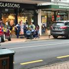 Police arrest a man after an altercation in the CBD today. Photo: Wyatt Ryder