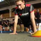 New recruit Private Kathy Shaw completes her set of press-ups.The new recruits were all put...