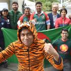 Nazmul Islam, dressed as a tiger, is ready to roar. Members of Dunedin's Bangladesh community,...