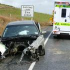 A Holden Commodore's engine block was torn off during an accident on State Highway 1 between...
