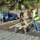 Dunedin carpenter Malcolm Hill (left) and Fahey Kwiat Builders director Jon Kwiatkowski at a work...