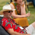 Cameron Douglas and Aurum wine-maker Lucie Lawrence enjoy the Pinot Noir Celebration early last...