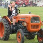 Penny Nell takes a final spin in her 1964 Fiat model 215 orchard tractor before it went under the...