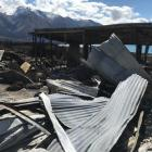 The framework is all that remains of this Lake Ōhau Village home. Photo: Supplied