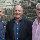 Attending a New Zealand Geotechnical Society conference in Dunedin yesterday are (from left) GNS...