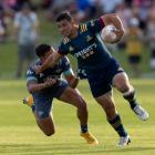 Freedom Vahaakolo in action for the Highlanders in a pre-season match against the Hurricanes at...