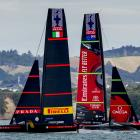 Team New Zealand and Luna Rossa took a race each on the first day of racing in the America's Cup....