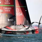 Team New Zealand claimed an emphatic victory against Luna Rossa in race 6. Photo: Getty Images