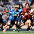 Will Jordan makes a break from fullback against the Blues at Eden Park. Photo: Getty Images