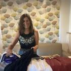 Gina Dempster irons the creases out of her Six Items Challenge outfit choices, on her cradle-to...