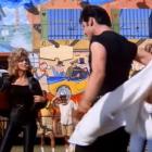 Olivia Newton John as the transformed Sandy in Grease with John Travolta. Photo: YouTube