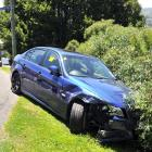 Samuel Angove damaged three other vehicles on his Maori Hill street before getting his car stuck...