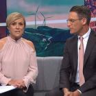 The complaints came after Hilary Barry wore this top last night. Photo: Seven Sharp