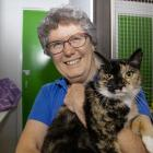 Joyce Latham with 'Hope' who has found a new home.  Photo: Geoff Sloan
