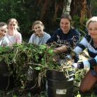 Villa Maria College students Katie Emms, Gabby Kennedy, Lucy Hine, Annika Palmer and Minnie...