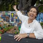 Sandi MacRae shows off one of the gardens on display at this weekend's Grow Ōtautahi –...