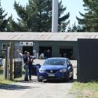 Police converge on the Mongols gang complex in Burnham in December. Photo: File