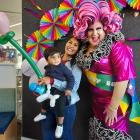 Lady Bubbles, with Malvika Bana and her 18-month-old son Advik at Lincoln Library. Photo: Susan...