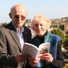 Arch Jelley and Effie Cockburn with the book Mornington Memoirs at the Mornington Taphouse...