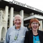 Retiring Waitaki District Libraries manager Philip van Zijl welcomes new manager Jenny Bean to...
