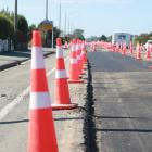 State Highway 1 in Oamaru, between Redcastle Rd and Virgil St, is being resurfaced. PHOTO:...