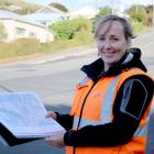 Waitaki District Council roading network engineer Josey Wallace looks over plans for a new...
