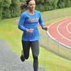 Rebekah Greene runs around the outside of the Caledonian Ground this week in preparation for the...
