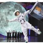 University of Otago science communication PhD student Alba Suarez Garcia flies the flag for the...