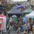 King Edward St was packed with visitors during the South Dunedin Street Festival on Saturday....