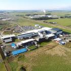 An aerial view of the South Pacific Meats site at Awarua in Southland. PHOTO: STEPHEN JAQUIERY